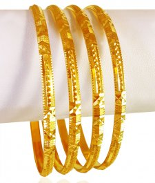 22KT Gold Bangles Set (4 PCs) ( Set of Bangles )