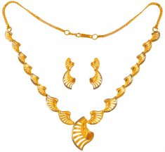 22Kt Gold Two Tone Set