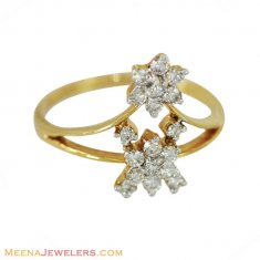 Floral Pattern Elegant Diamond Ring ( Diamond Rings )