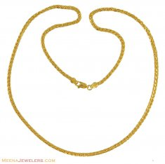 22K Gold Fancy Chain (20 Inch) ( Plain Gold Chains )