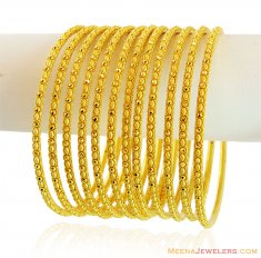 Exclusive Gold Filigree Bangles Set ( Set of Bangles )