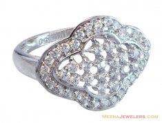 18K Designer Ladies White Gold Ring ( Ladies White Gold Rings )