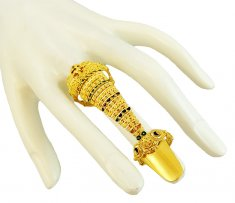 22K Gold Ring With Nail ( Ladies Gold Ring )