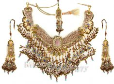 Exclusive Indian Bridal Gold Necklace Set ( Bridal Necklace Sets )