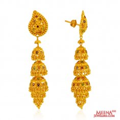 Traditional 22 Kt Gold Jhumki ( Exquisite Earrings )