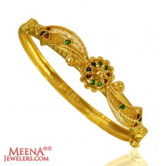 22K Gold Meenakari Kada (1PC)