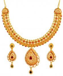22K Gold Designer Bridal Set ( Gold Designer Sets )