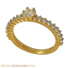 22K Gold Solitaire Ring