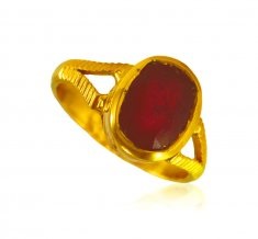 22Kt Gold Precious Stone Ring ( Ladies Rings with Precious Stones )