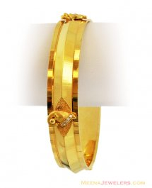 22k Fancy Mens Lord Ganesh Kada ( Mens Gold Kada )