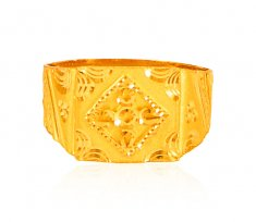 Solid Mens Ring 22k gold