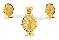 22 Kt Gold Pendant Sets ( Gold Pendant Sets )