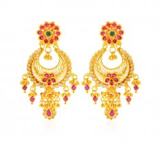 22Karat Gold Earrings For Ladies ( 22Kt Gold Fancy Earrings )