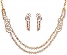 18kt Diamond Necklace Set