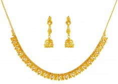 22K Gold Necklace Set with pearls