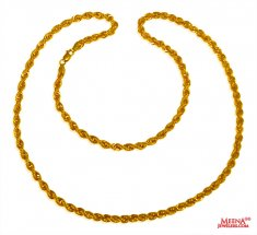 22 Kt Gold Rope Chain 24 Inches ( Plain Gold Chains )