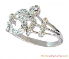 18K Designer Om Ring ( Diamond Rings )