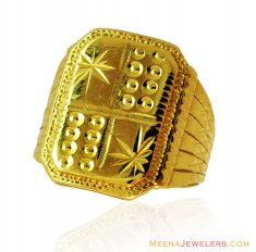 Indian Gold Mens 22K Ring  ( Mens Gold Ring )