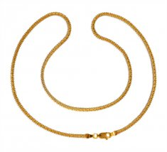22KT Gold Box Chain for Ladies ( Plain Gold Chains )