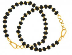 22K Baby Bracelet with Black beads ( Black Bead Bracelets )