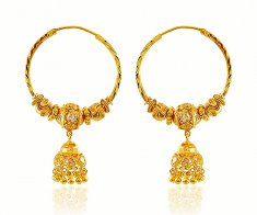 22K Gold Hoop ( Earrings) ( Hoop Earrings )