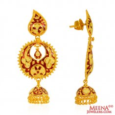 22 Karat Gold Chand bali  ( Exquisite Earrings )