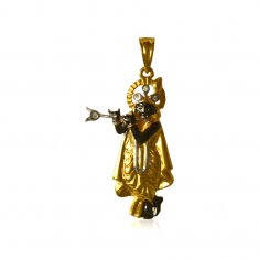 22K Fancy Lord Krishna Pendant