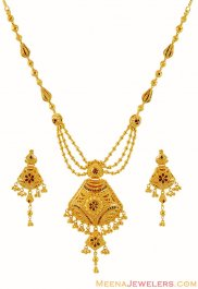 Meenakari 22K Necklace Set