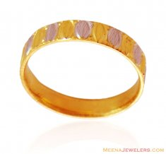 Fancy 22K Two Tone Band ( Wedding Bands )