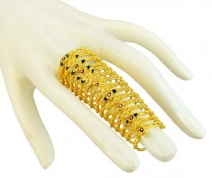 22K Gold Traditional Long Ring ( Ladies Gold Ring )