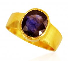 22kt Gold Blue Sappire Ring