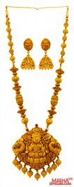 22 kt Antique Temple Necklace Set ( Antique Necklace Sets )