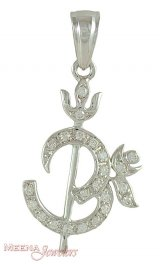 18K Om Pendant with Trishul ( Om Pendants )