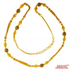 22 Kt Gold Long Meenakari Chain ( 22Kt Long Chains (Ladies) )