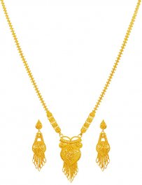 22KT Gold Patta Necklace Set