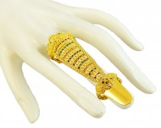 22K Traditional Ring With Nail ( Ladies Gold Ring )