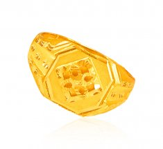 22   Kt Gold Mens Ring ( Mens Gold Ring )