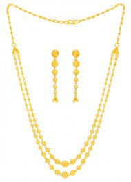 22 Karat Gold Layered Necklace Set