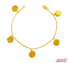 22k Gold Hanging Bracelet ( Ladies Bracelets )