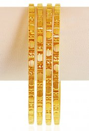 22kt Gold Machine Bangles (4 Pcs) ( Gold Bangles )
