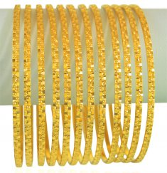22k Gold Bangles Set(12 Pcs ) ( Set of Bangles )