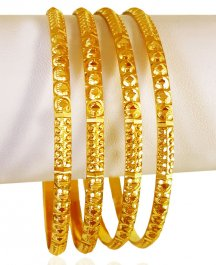 22kt Gold Bangles (Set of 4) ( Set of Bangles )