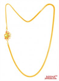 22K Gold Peacock Moggapu Chain ( 22Kt Gold Fancy Chains )