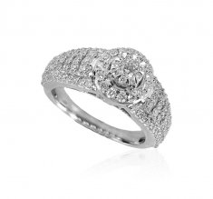18kt Gold Diamond Ladies Ring  ( Diamond Rings )