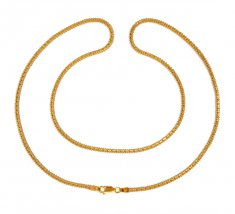 22Kt Gold Box Chain (22In) ( Plain Gold Chains )