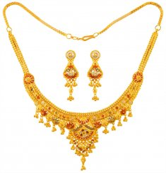 22K Gold Three Tone Set