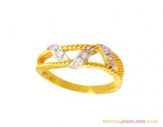 22K Signity Studded Fancy Band