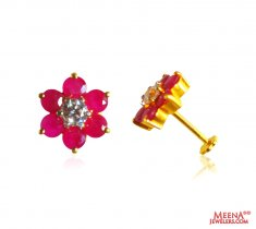 22kt Gold Ruby Earrings