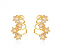 Designer Pearl Cz Earrings 22k