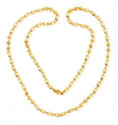 Gold White Tulsi Mala 26In ( 22Kt Long Chains (Ladies) )
